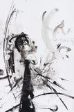 Peinture abstraite de balai Image stock