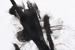 Peinture abstraite de balai Photo libre de droits
