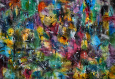 Peinture abstraite de couleur Image libre de droits