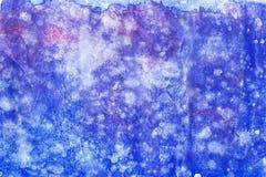 Peinture abstraite de main d'art d'aquarelle sur le fond blanc Fond d'aquarelle image libre de droits