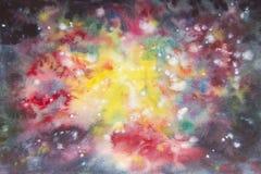 Peinture abstraite de main d'art d'aquarelle Fond Photographie stock libre de droits