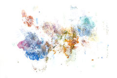 Peinture abstraite de main d'art d'aquarelle Fond Photo stock