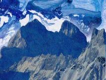 Peinture abstraite faite main Surréalisme et mysticisme Peinture abstraite de fond Images stock