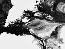 Peinture abstraite faite main Surréalisme et mysticisme Peinture abstraite de fond Images libres de droits