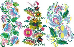 Peinture abstraite - fleurs Photo libre de droits