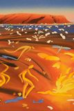 peinture abstraite indigène Images stock