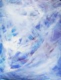 Peinture acrylique abstraite heureuse d'art dans le bleu, blanc Photos libres de droits