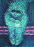 Peinture acrylique abstraite solitude Images libres de droits