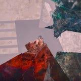 Peinture acrylique abstraite sur la toile Photo libre de droits