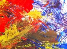 Peinture acrylique d'arts sur la texture de papier d'abrégé sur fond Image stock