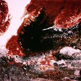 Peinture acrylique liquide, illustration liquide, fond coloré abstrait avec les cellules peintes colorées, taches Couleurs rouges Photos libres de droits