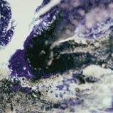 Peinture acrylique liquide, illustration liquide, fond coloré abstrait avec les cellules peintes colorées, taches Rétros couleurs Image libre de droits