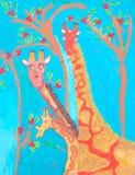 Peinture africaine d'enfant d'art Images stock