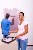 Peinture africaine de couples Photographie stock libre de droits