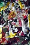 Peinture, aquarelle, tonalités foncées d'or rouge de siilver, fond abstrait Photos libres de droits