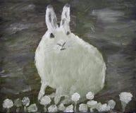 Peinture arctique de lièvres   Photographie stock libre de droits