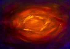 Peinture ardente foncée rouge jaune faite main artistique de fond d'abrégé sur enfer de tunnel de peinture à l'huile de plan rapp illustration de vecteur