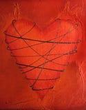 Peinture attachée de coeur Photo libre de droits