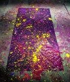 Peinture au néon d'éclaboussure Photos libres de droits