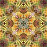Peinture belle Mandala Background florale colorée abstraite de Digital Image stock