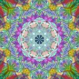 Peinture belle Mandala Background florale colorée abstraite de Digital Image libre de droits