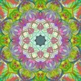 Peinture belle Mandala Background florale colorée abstraite de Digital Photographie stock