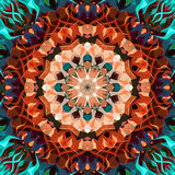 Peinture belle Mandala Background florale colorée abstraite de Digital Images stock