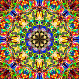 Peinture belle Mandala Background florale colorée abstraite de Digital Photos stock
