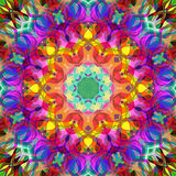 Peinture belle Mandala Background florale colorée abstraite de Digital Photo libre de droits