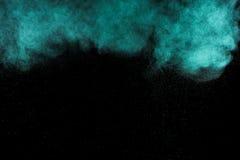 Peinture bleu vert abstraite Holi Photographie stock
