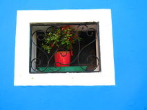 Peinture bleue Photo libre de droits