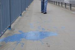 Peinture bleue Image libre de droits