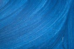 Peinture bleue abstraite avec des vagues de couleur Photographie stock