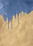 Peinture bleue d'égoutture de cru Images libres de droits