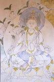 Peinture chez le Jakar Dzong, Jakar, Bhutan Photo libre de droits