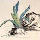 Peinture chinoise Images libres de droits