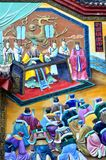 Peinture chinoise d'empereur chinois antique photo stock