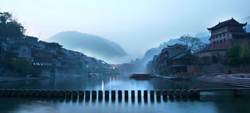 Peinture chinoise d'horizontal photos stock
