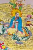 Peinture chinoise de tradition sur le mur chinois de temple Photos stock