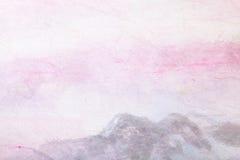 Peinture chinoise (horizontal de montagne) sur le papier illustration stock