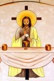 Peinture chrétienne de monastère de Latrun Photo stock