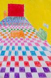 Peinture colorée intérieure Photographie stock