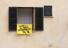 Peinture contre des touristes en Majorque Image libre de droits