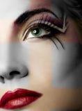Peinture créatrice de visage Photo stock