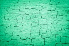 Peinture criquée verte image stock