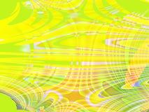 Peinture cubiste jaune verte abstraite colorée Photo libre de droits