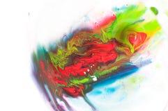 Peinture débordante Photo stock