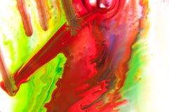Peinture débordante Photos libres de droits