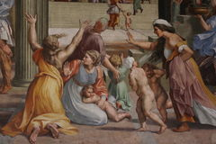 Peinture décorative à Rome Photographie stock libre de droits