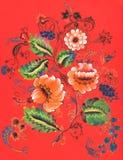 Peinture décorative abstraite courante d'ornement Images libres de droits